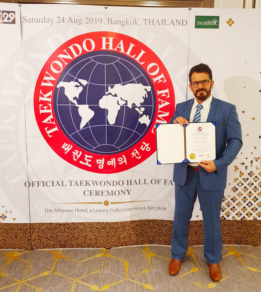 Making History: Grand Master Jemal Hasan's Journey To The Taekwondo Hall of Fame Award - image Master-Hasan-hall-of-fame-5 on https://www.olympicmartialarts.com.au